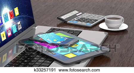 Carte Bancaire Sur Telephone.Ordinateur Portable Tablette Intelligent Telephone Carte