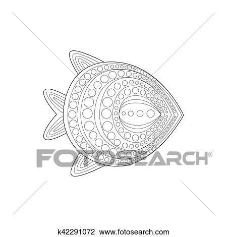 Clipart - plano, agua tibia, fidh, mar, submarino, naturaleza ...