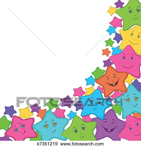 Smilies النجوم Clip Art K7351219 Fotosearch