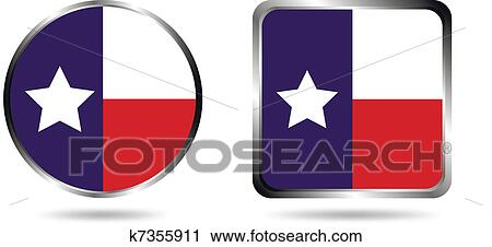 Clipart Of Texas Flag Icon K7355911