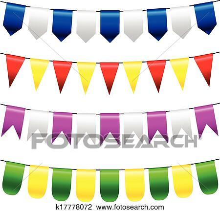 Clipart Vektor Ammer Und Girlande Satz K17778072 Suche Clip