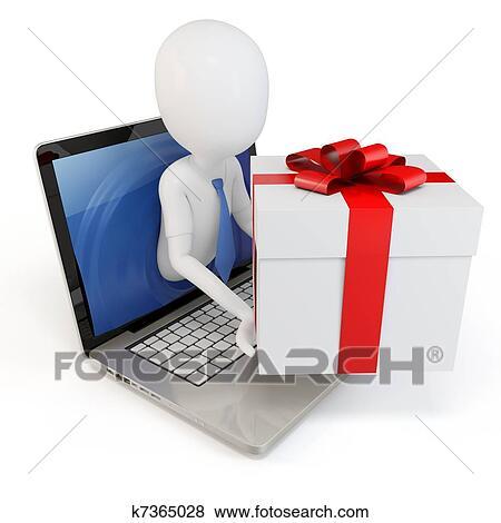 Bilder 3d Mann Mit Geschenk Paket Begriff K7365028 Suche