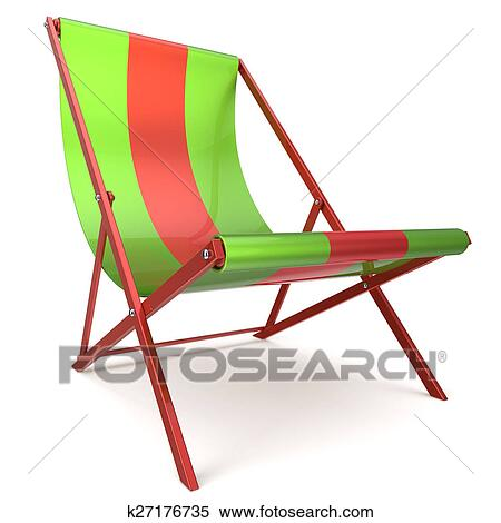 Beach Chair Green Red Chaise Longue Nobody Relaxation Holidays Spa Resort Summer Sun Tropical Sunbathing Travel Leisure Comfort Outdoor Concept