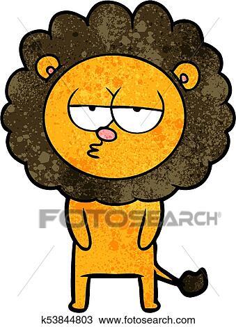 Lion Clip Art Tired