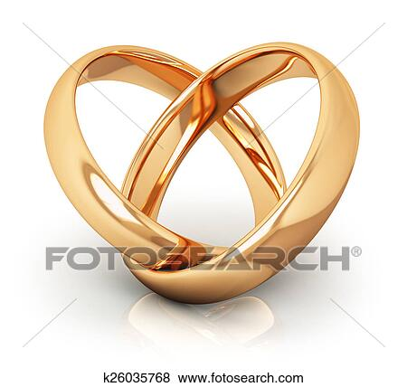 Stock Illustration of Golden wedding rings k26035768 Search EPS
