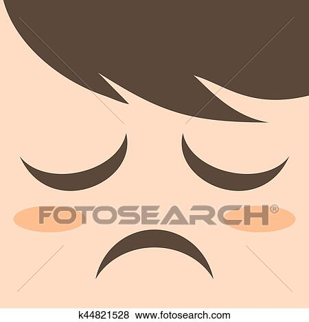 Muito Triste Rosto Desenho Clipart K44821528 Fotosearch