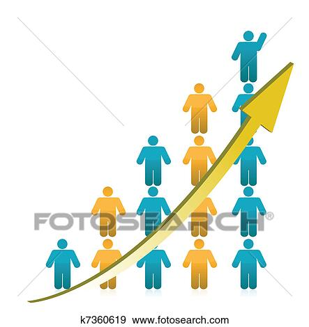 clip art of people graph showing growth k7360619 search clipart rh fotosearch com Church Growth Clip Art Business Growth Clip Art