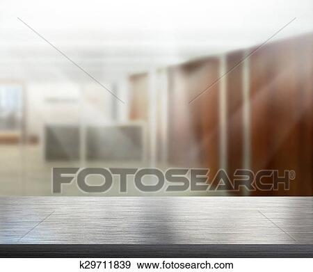 Table Top And Blur Office Background Stock Photo K29711839