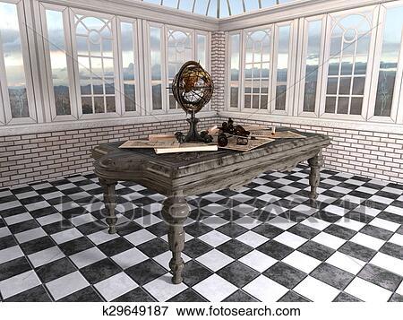 Terrestrial Globe Stock Illustration K29649187 Fotosearch