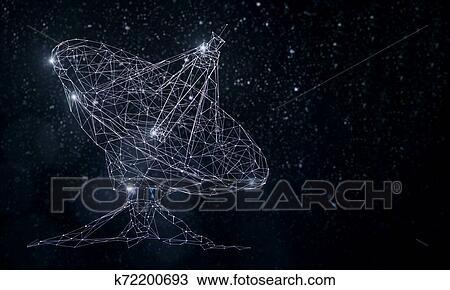 スケッチ - 白熱, 衛星 皿. Fotosearch