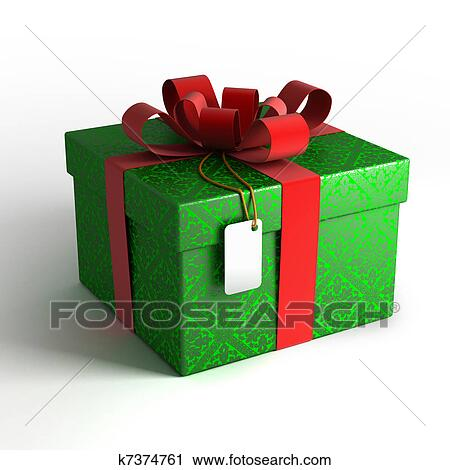 Clipart Of Christmas Gift Box With Work Path K7374761 Search Clip