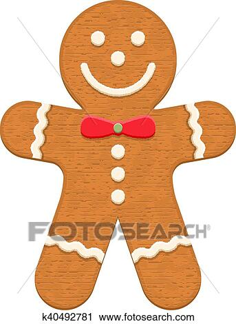 Clipart Of Gingerbread Man K40492781