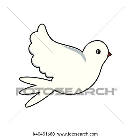 Isolato Colomba Disegno Uccello Clipart