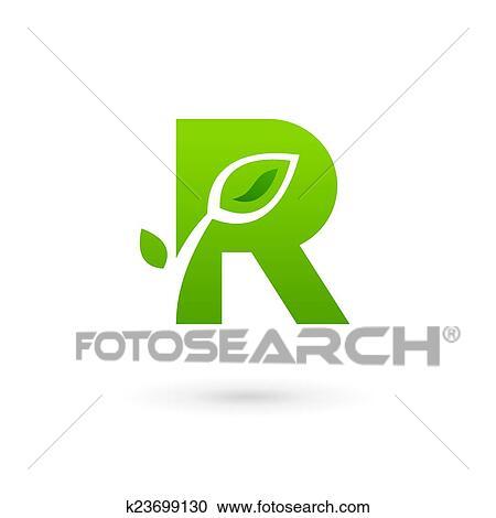 clipart letter r eco leaves logo icon design template elements fotosearch search clip