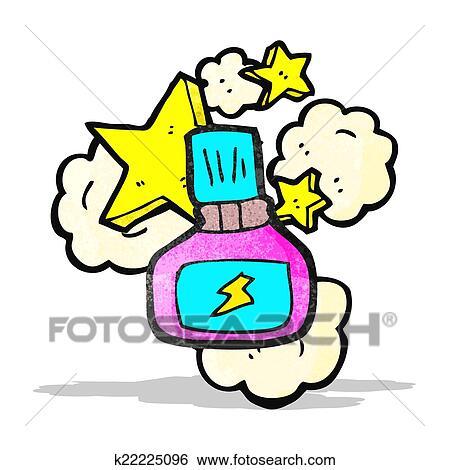 Clip Art Of Nail Polish Bottle Cartoon K22225096 Search Clipart