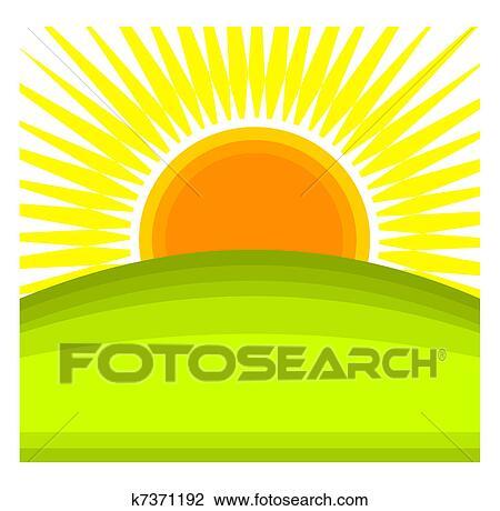 Nature Vector Sunrise - Clip Art Sun Rise, HD Png Download -  1281x1025(#1244220) - PngFind