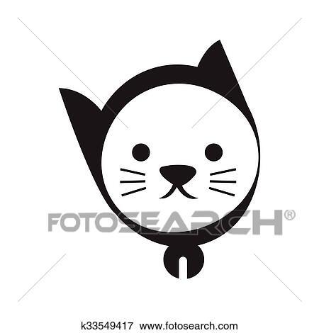 Coloriage Chat Tachete.Dessin Tete Chat