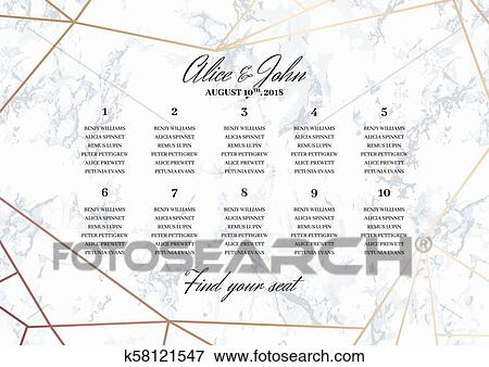 Wedding Seating Chart Poster Template Clip Art