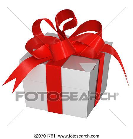 クリスマスプレゼント 箱 で 弓 クリップアート K20701761