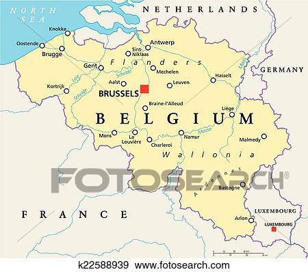 clip art blgica poltico mapa fotosearch buscar clip art ilustraciones