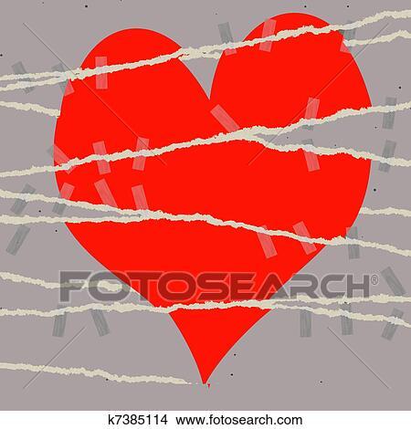 Drawings Of Heart Break Symbol K7385114 Search Clip Art