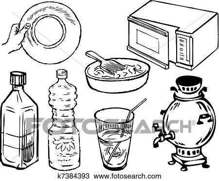 Kitchen Supplies Clipart