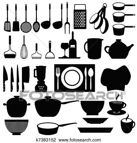 Kitchen Utensils And Tools Clipart K7383152 Fotosearch