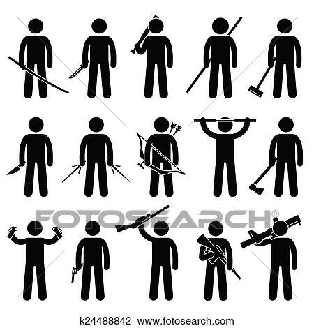 Schwert Kampf Konzept der zwei gold Männer kämpfen mit Schwertern  Stockfotografie - Alamy