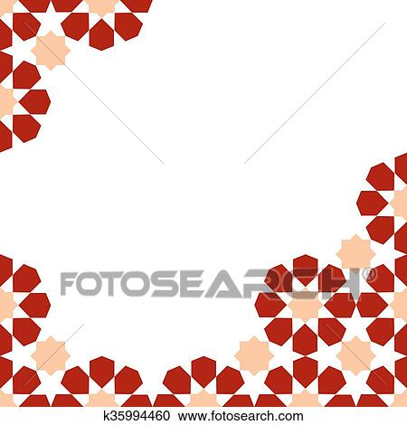 Clipart of moroccan zellige template k35994460 - Search Clip Art ...