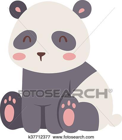 Dieigeihao panda bambola bambola peluche bianco e nero gatto