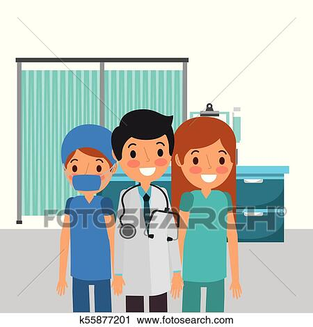 Clipart Of People Medical Healthcare K55877201 Search Clip Art