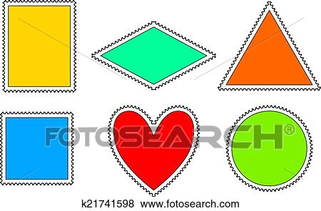 clip art of postage stamps template k21741598 search clipart