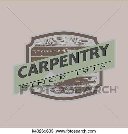 d5c30614fa Clipart - vendimia, carpintería, icono, vector, illu. Fotosearch - Buscar  Clip
