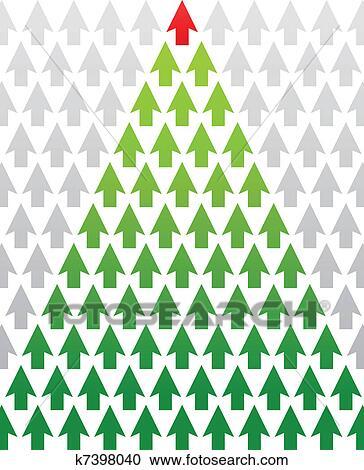 Christmas Arrow.Arrow Christmas Tree Business Theme Clipart