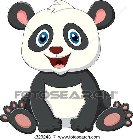 Cute Panda Cartoon Clip Art