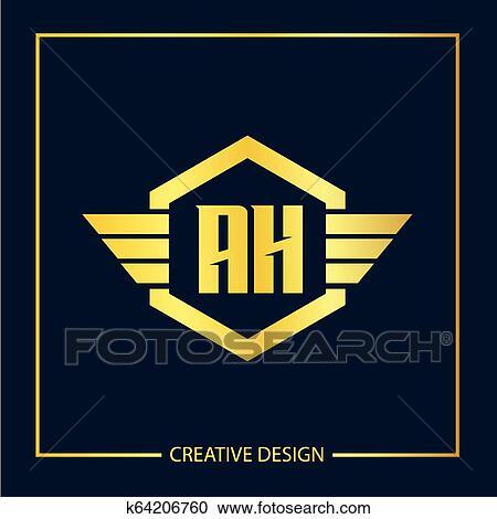 Initial Letter Ah Logo Template Vector Design Clipart K64206760 Fotosearch