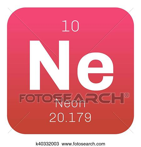 Drawing Of Neon Chemical Element K40332003 Search Clipart