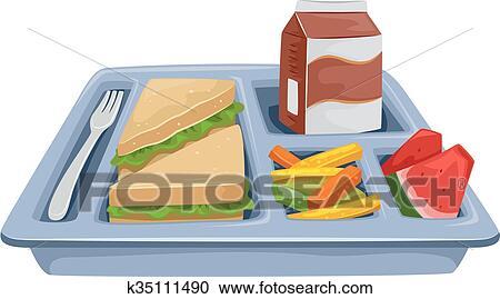 clipart repas plateau r gime d jeuner k35111490 recherchez des clip arts des. Black Bedroom Furniture Sets. Home Design Ideas