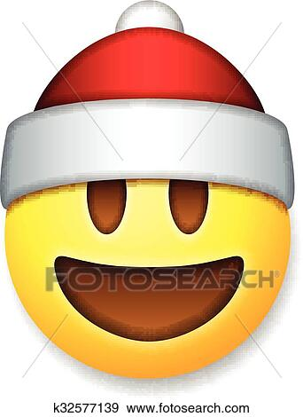 weihnachtsmann emoticon lachender feiertag emoji clip. Black Bedroom Furniture Sets. Home Design Ideas
