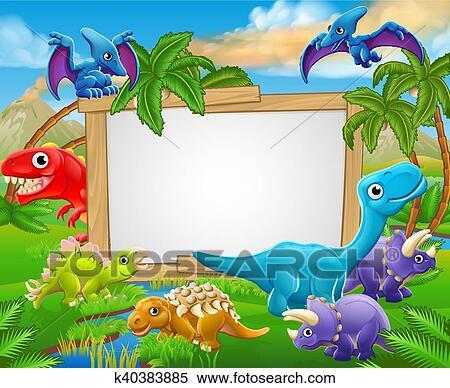 Caricatura Dinosaurios Senal Clipart K40383885 Fotosearch Octubre 18, 2016 albita0303 anime comentarios desactivados en video dinosaurios (dibujos animados). caricatura dinosaurios senal clipart