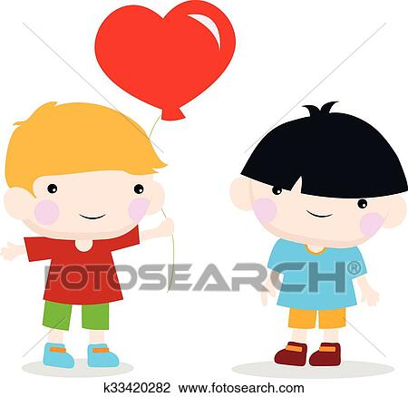 clipart of cute gay couple k33420282 search clip art illustration rh fotosearch com gay wedding clipart gay pride clipart