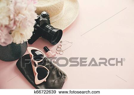 f28a89772be Stock Photograph of Hello summer. International womens day. Stylish ...