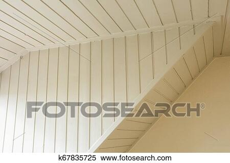 Old Plaster And Lath Ceiling White Wood