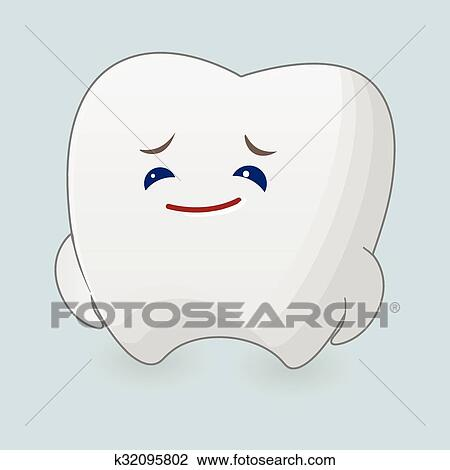 Sad Tooth Illustration Clipart K32095802 Fotosearch
