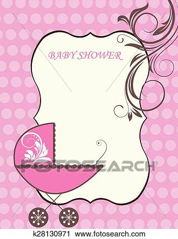 Clipart Of Baby Shower Announcement K28130971 Search Clip Art