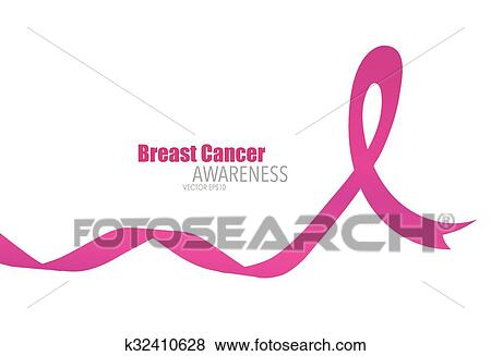 Clip Art Of Breast Cancer Awareness Pink Ribbon Healthcare And