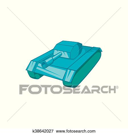 tank icon cartoon style clip art k38642027 fotosearch fotosearch