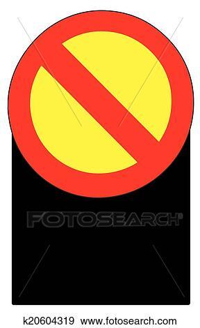 Blank Stop Forbidden Sign Symbol Clip Art