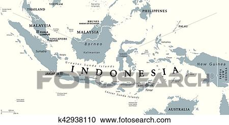 Clipart of indonesia political map k42938110 search clip art indonesia political map with capital jakarta islands neighbor countries malaysia singapore brunei east timor and capitals freerunsca Gallery