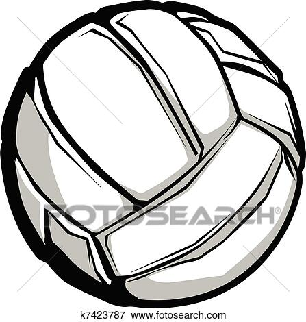 clip art of volleyball vector image k7423787 search clipart rh fotosearch com volleyball graphics jersey volleyball graphics png